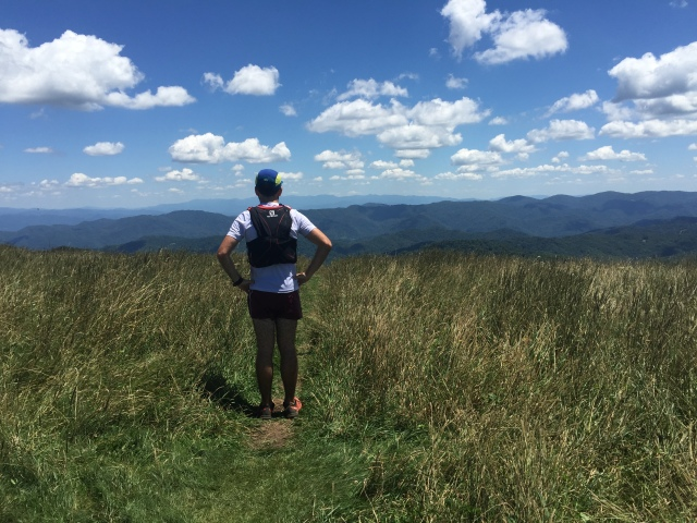 Appreciating the view from the summit of the artificial bald - Max Patch