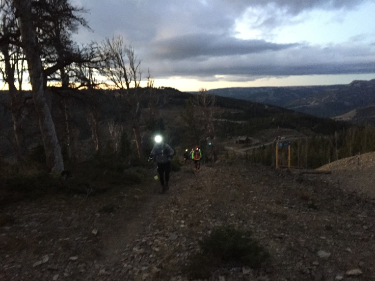 The day getting brighter after the first two mile climb of the course.