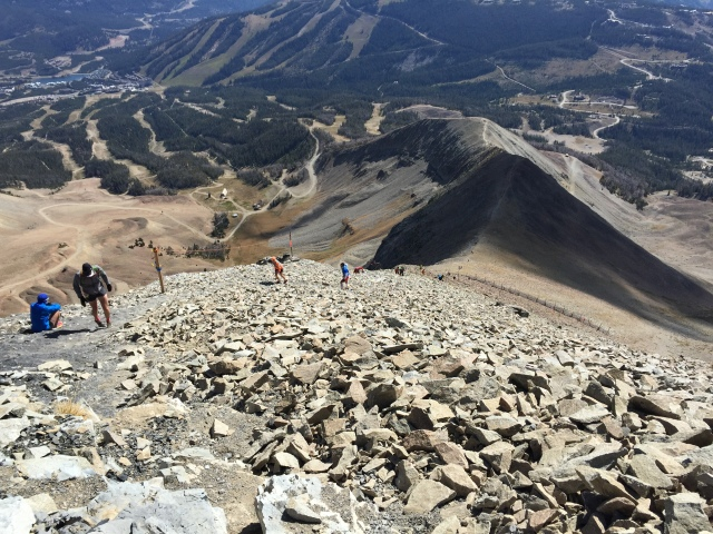 Looking down Bone Crusher from near the Summit of Lone Peak.